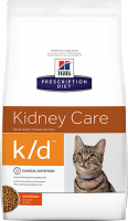 Hills Prescription Diet K/D сухой корм для кошек для профилактики заболеваний почек